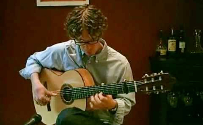 Video preview image of flamenco guitar player